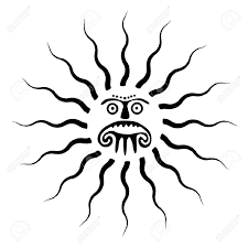 sun tribal tattoo sun symbol tattoo illustration royalty free cliparts vectors
