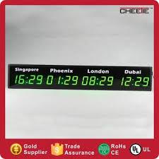 afficher l heure sur le bureau 4 villes personnalisé endroits affichage monde fuseau horaire led