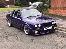 stanced muscle cars 1988 bmw e30 320i convertible m tec2 hpi clear classic modified