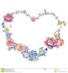 watercolor floral illustration collection flowers arranged un