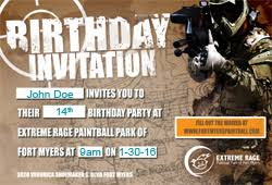party invitations for extreme rage paintball park of fort myers