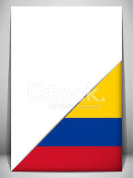 Country Flag Images Colombia Country Flag Turning Page Stock Vector Freeimages Com