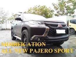 All New Pajero Sport List Kap Mobil Depan Molding Chrome all new pajero sport modification cutting sticker