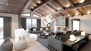 salon du luxe création 3d de chalet de luxe studio 3d français