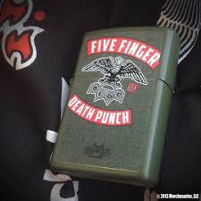 American Flag Zippo Five Finger Death Punch Design On Green Matte Zippo Lighter Sold