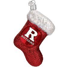 rutgers university glass stocking ornament old world christmas
