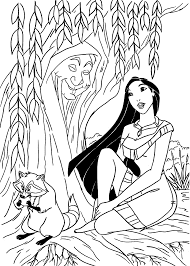 pocahontas coloring pages for kids printable free color book