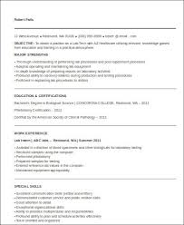 Medical Laboratory Technologist Resume Sample by Sample Medical Technologist Resume 8 Examples In Word Pdf