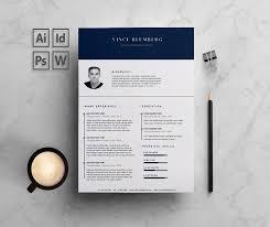 resume cv 2 pages vince resume templates creative market