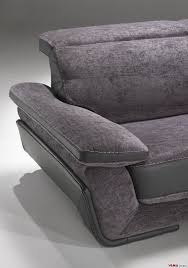 Fabric Sofa Recliners by Leather And Fabric Sofa With Reclining Headrests
