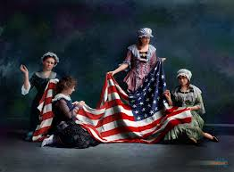 Painting A Flag Birth Of The U S Flag A 1917 Staging Based On A 1911 Painting By