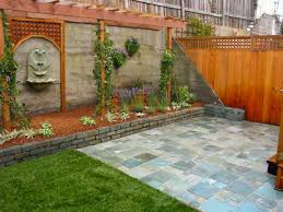 Backyard Fence Decorating Ideas Backyard Wall Ideas Cool With Picture Of Exterior New At Design