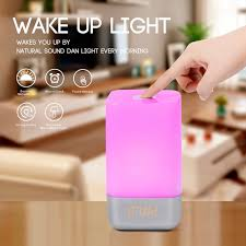 alarm clock that wakes you up in light sleep multi function alarm clock wake up night light creative home bedroom