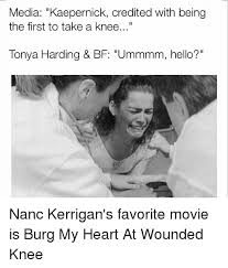 Tonya Meme - media kaepernick credited with being the first to take a knee tonya