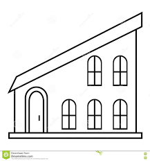 modern house icon outline style stock vector image 80234205