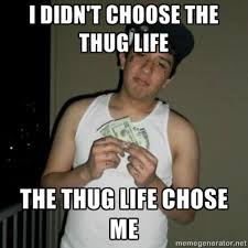 Funny Gangster Memes - image 368969 i didn t choose the thug life the thug life chose