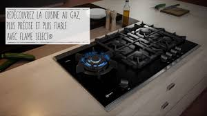 cuisine gaz table gaz neff avec flameselect