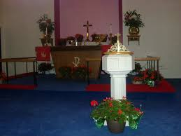 Altar Decorations File Protestant Altar Pentecost Red Flowers Green Birch Jpg