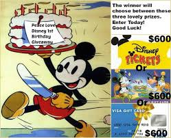 peace love disney 1st birthday giveaway 600