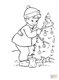 christmas tree color page christmas lights decoration
