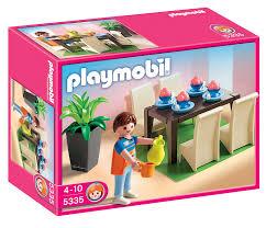playmobil cuisine 5329 playmobil 5335 jeu de construction salle à manger amazon fr