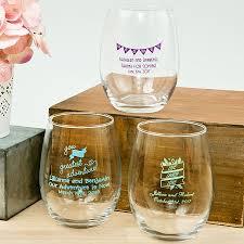 stemless wine glasses wedding favors personalized 15 once stemless wine glass wedding favors