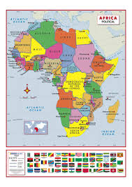 Africa And Asia Political Map by Africa Political Active Learning Wall Map Mapstudio