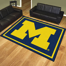 of michigan wolverines area rug nylon 8 u0027 x 10 u0027