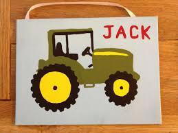 items similar to boys room john deere green tractor painting