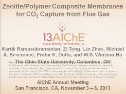 zeolite polymer composite membranes for co2 capture from flue gas