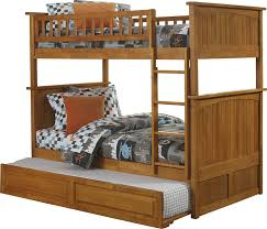 Bunk Beds With Trundle Amazon Com Nantucket Bunk Bed With Raised Panel Trundle Bed Twin