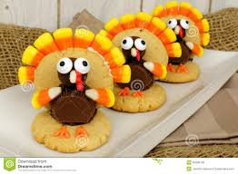 thanksgiving turkey shaped cookies stock photo image 45606138