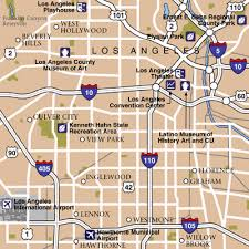 map of ta area los angeles maps maps to get to and from los angeles lax airport