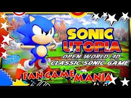 sonic utopia 4k 60fps open world classic sonic 3d fan