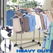 gym equipment portable adjustable clothes garment rack hanger