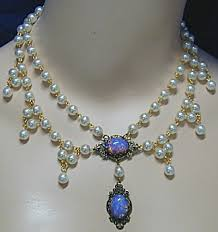 opal necklace vintage images Renaissance jewelry fashion jewelry costume jewelry vintage jpg