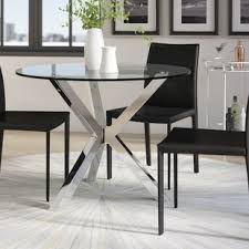 Glass Dining Table Glass Kitchen Dining Tables You Ll Wayfair