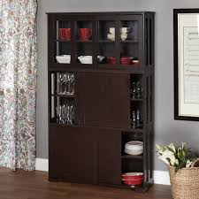 simple living espresso sliding door stackable cabinet by simple