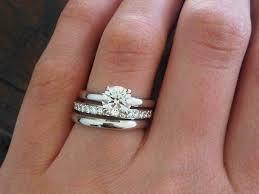 wedding band and engagement ring princess cut engagement ring with wedding band