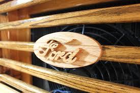 Classic Ford Truck Emblems - custom built all wood ford pickup truck