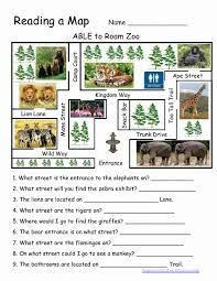 What Do Maps Use To Indicate The Cardinal Directions Reading A Map Worksheet Reading A Map Kid Stuff Pinterest