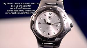 tag heuer ads tag heuer kirium automatic wl5110 silver chronometer youtube