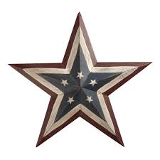 painted americana wood make a photo gallery star wall decor home