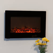 northwest electric fireplace 35 in wall mount with black curved
