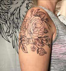 rebel muse tattoos feminine lightly shaded floral and