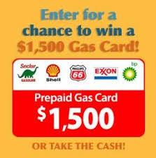 prepaid gas card win a prepaid gas card worth 1500 free online sweepstakes 2016