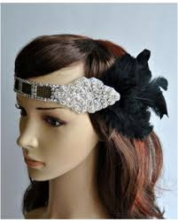 gatsby headband savings on deco flapper feather headband 20 s vintage inspired
