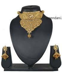 gold choker necklace sets images Rajasthani gold choker necklace set jpg