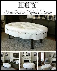 Living Room Table Ottoman How To Make A Tufted Ottoman From A Coffee Table Home Decorating