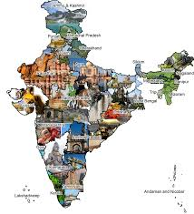 India On A Map by Discover India